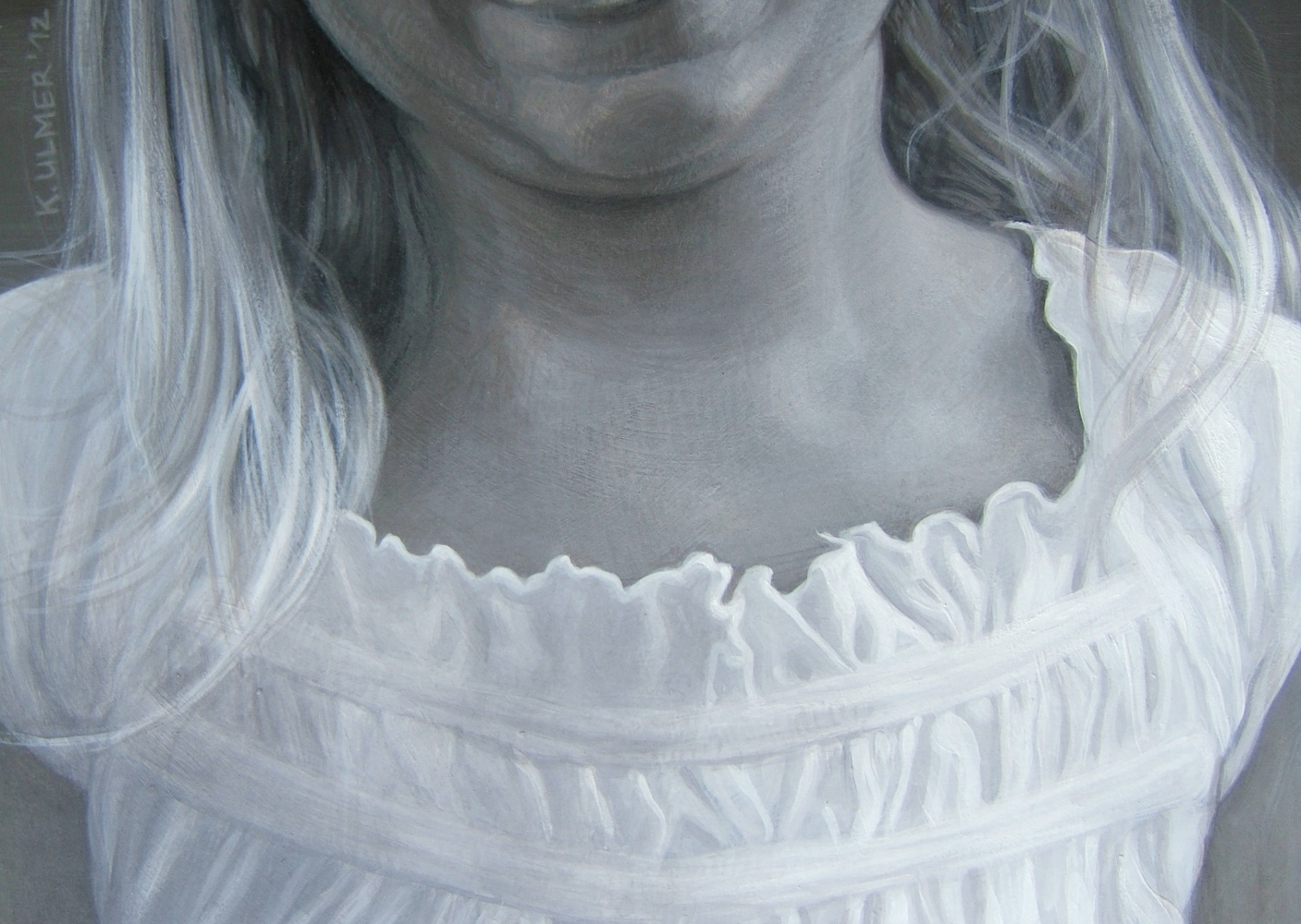 Marie - detail: neck and skirt